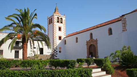 Church in Betancuria, Fuerteventura Island, Spain Footage