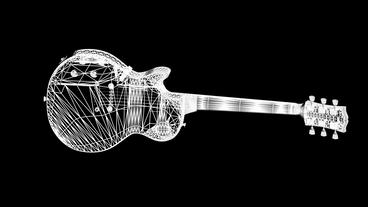 Rotation Of 3D Electric Guitar.music,musical,instrument,string,rock,electric,art,sound,acoustic,Grid stock footage