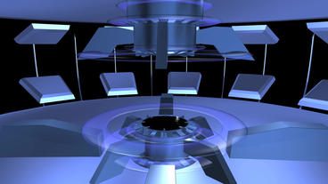 virtual tech news Studio inter Stock Video Footage