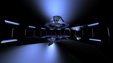 virtual tech news Studio inter Stock Video Footage