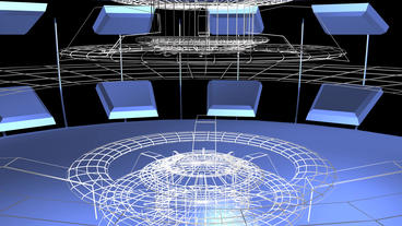 Virtual Tech Grid Indoor Scene stock footage