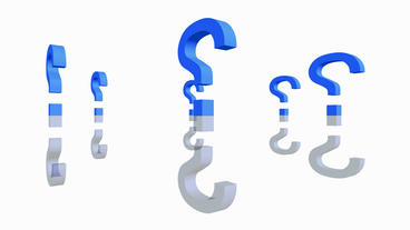 Rotation of 3D Question mark.isolated,mark,3d,illustration,abstract,problem,think,faq,answer Animation