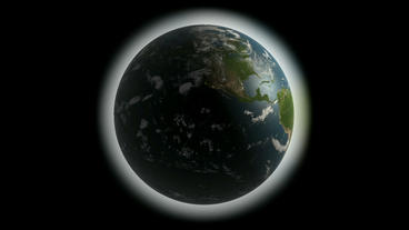 Rotation of 3D earth.planet,world,globe,continent,map,geography,ocean,sphere,blue,global,land,space Animation