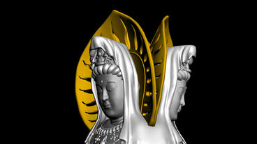 Rotation of 3D Guanyin Buddha... Stock Video Footage