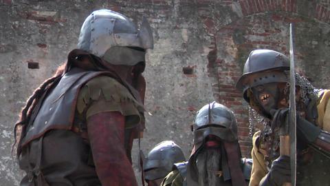 evil warrior 04 Stock Video Footage