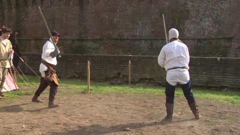 medieval sword duel 05 Footage