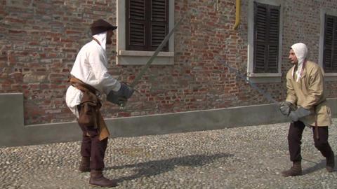 medieval sword duel 11 Footage