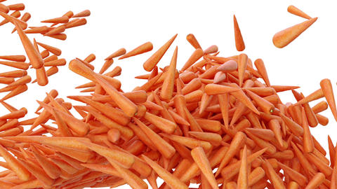 Carrot flow with slow motion Stock Video Footage