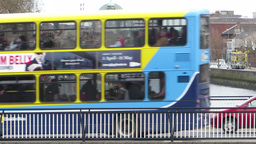 Dublin City Traffic Stock Video Footage