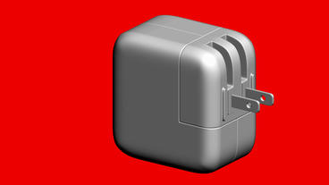 Rotation of 3D USB power adaptor plug.apple,energy,electricity,power,electric,ca Animation