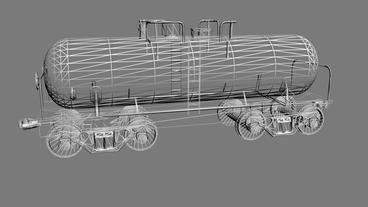 Rotation of 3D train... Stock Video Footage