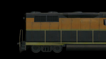 Moving of 3D Train.locomotive,railroad,train,transportation,travel,passenger Animation