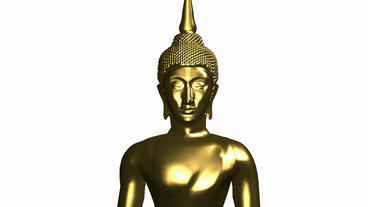 Rotation of 3D buddha.buddhism,religion,asia,zen,statue,god,spiritual,sculpture, Animation
