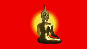 Rotation of 3D buddha.buddhism,religion,asia,zen,statue,god,spiritual,sculpture, Animation