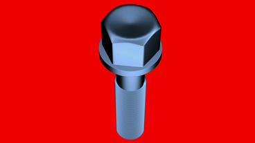 Rotation of 3D screw.metal,bolt,steel,tool,construction,industrial,metallic,indu Animation