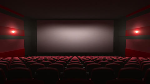 movie theatre with a green screen Stock Video Footage