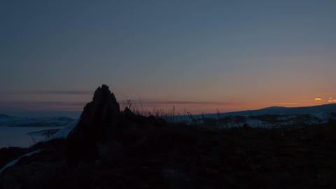 Winter sunrise timelapse Stock Video Footage