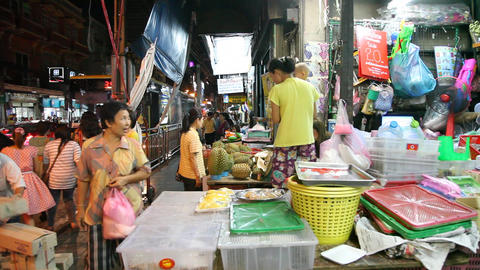 Tuk-Tuk on night street in Bangkok Footage