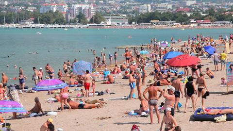 Gelendzhik city beach Footage