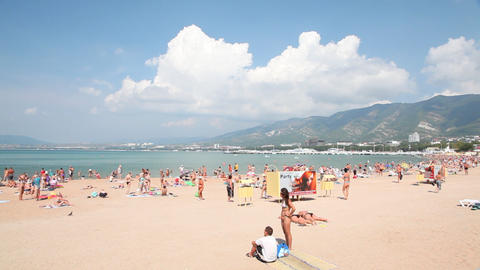 Gelendzhik city beach Footage