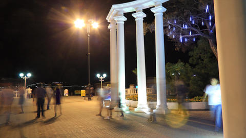 Gelendzhik city timelapse, Russia Stock Video Footage