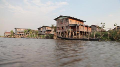 Boat on Inle lake , Myanmar Footage