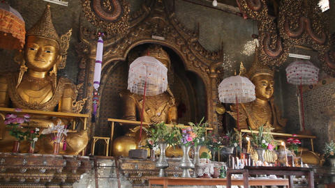 Buddha Inside Taung Tho Pagoda Stock Video Footage