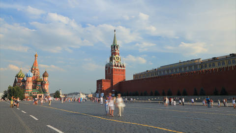 Red square timelapse Stock Video Footage