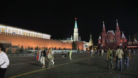 Red Square night Stock Video Footage