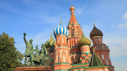 Saint Basil's Cathedral timelapse Stock Video Footage