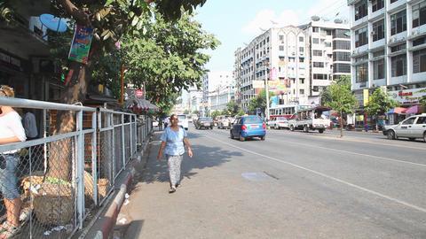 Yangon Street , Myanmar Stock Video Footage
