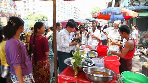 Lemonade seller in Yangon Stock Video Footage