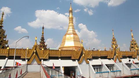Sule pagoda in Yangon, Myanmar Footage