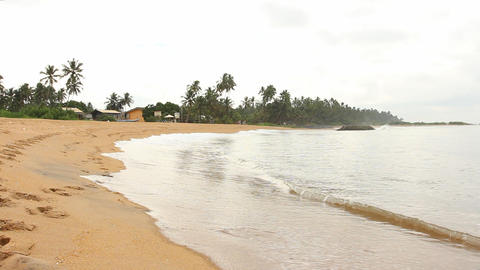 Tropical Beach, Sri Lanka. stock footage