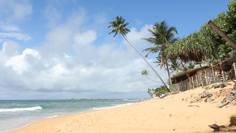Tropical Beach,Sri Lanka Stock Video Footage
