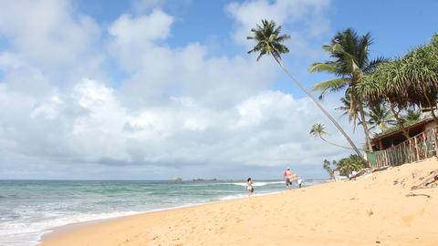 Tropical Beach,Sri Lanka. stock footage