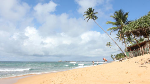 Tropical Beach,Sri Lanka Stock Video Footage