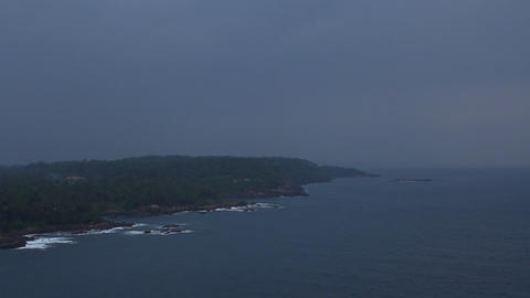 Lighthous view of coast line, Sri Lanka Stock Video Footage