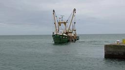 Fishing Trawler 1 Stock Video Footage