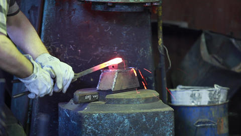 metal forging Stock Video Footage