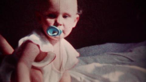 Happy Baby (vintage 8mm film footage) Stock Video Footage