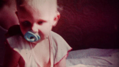 Happy Baby (vintage 8mm Film Footage) stock footage