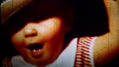Child close-up- Vintage Super8 Film Live Action