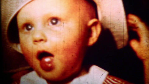 Child close-up- Vintage Super8 Film Stock Video Footage
