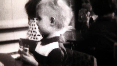Child close-up- Vintage Super8 Film Footage