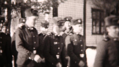 Soldiers close-up - Vintage Super8 Film Stock Video Footage