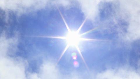 Sunny Sky Stock Video Footage
