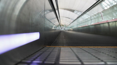 Moving Walkway in airport Footage