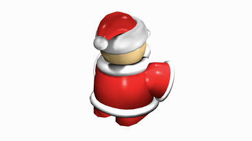 Rotation Of 3D SantaClaus.christmas,toy,Candle,Accessories,Sculpture,claus,holiday,winter,xmas stock footage
