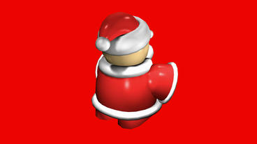 Rotation of 3D SantaClaus.christmas,toy,Candle,Accessories,Sculpture,claus,holid Animation